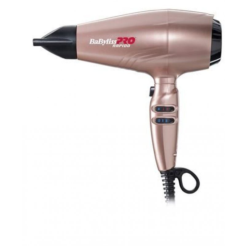 Фен BaByliss PRO BAB7000IRGE ULTRALIGHT Rapido GOLD ROSE.